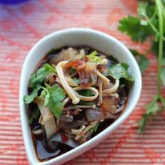 香辣金针菇拌蜇皮的做法