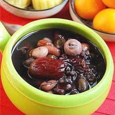 黑米红枣杂豆粥