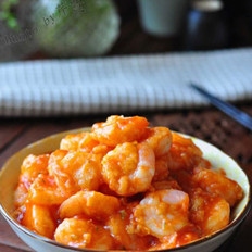茄汁虾球的做法