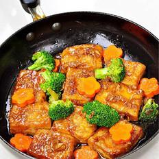 姜汁铁板豆腐的做法