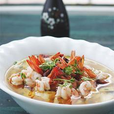沸腾水煮豆花虾 的做法