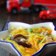 南瓜花香菇湯的做法