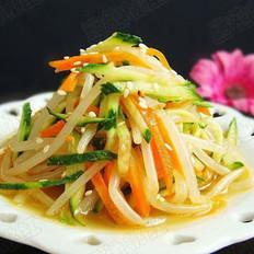 凉拌豆芽黄瓜菜  的做法
