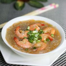 鲜虾粉丝汤的做法
