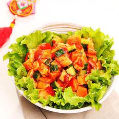 桃红柳绿拌沙拉的做法