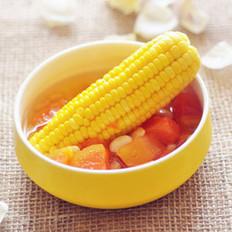 木瓜玉米甜汤的做法