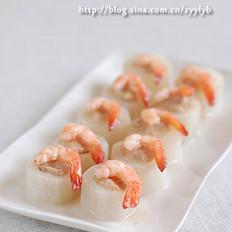 鲜虾萝卜酿的做法