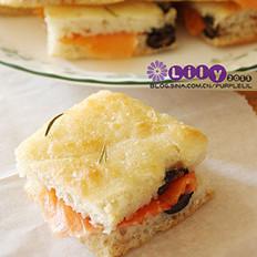 橄欖迷迭香佛卡夏面包的做法