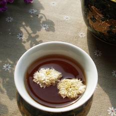 菊花普洱茶的做法