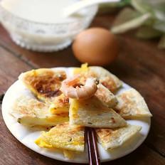虾仁鸡蛋灌酥饼的做法