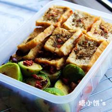豆腐甘蓝便当的做法