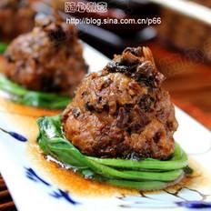 梅干菜蒸狮子头的做法