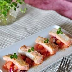 柠香三文鱼沙拉的做法