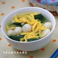 咸味菠菜汤圆的做法