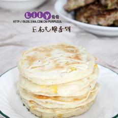玉米火腿蛋饼的做法
