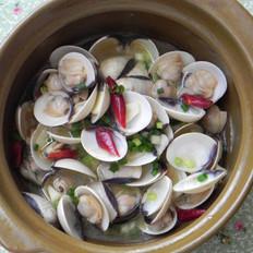 玫瑰露酒煮白蛤的做法