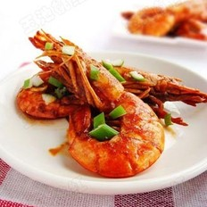 干烧大红虾  的做法