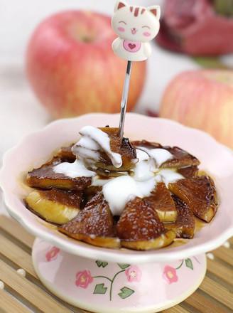 红糖煎苹果的做法