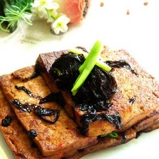 红烧紫菜豆腐的做法