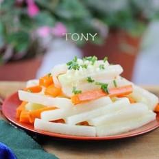鸡汁蔬菜条的做法