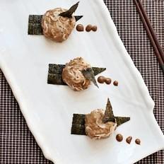 麻酱蒜泥虾皮墩