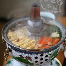 酱油鸡火锅的做法