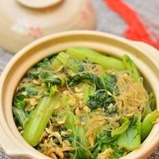 虾皮小白菜粉丝煲的做法