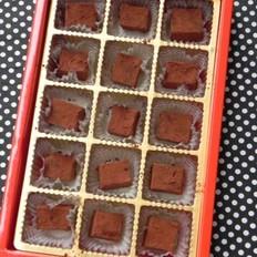 方形松露巧克力的做法