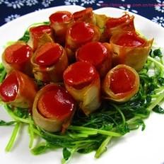 杏鲍菇香肠卷的做法