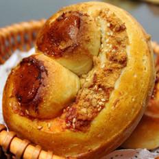 双拼肉松面包卷儿的做法
