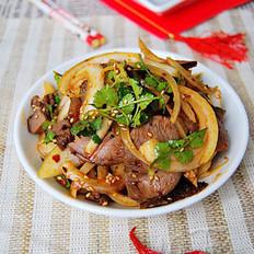 香辣洋葱拌牛肉的做法