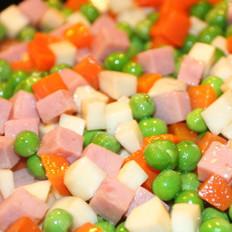 火腿豌豆的做法