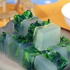 菠菜肉皮冻的做法