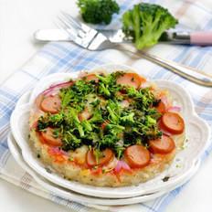 火腿洋芋米披薩的做法