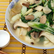 浓汤杂菌浸菜苗  的做法