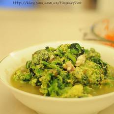 海鲜菠菜汆蛋