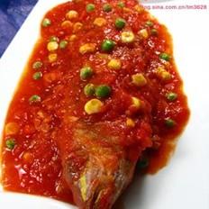 番茄红杉鱼的做法