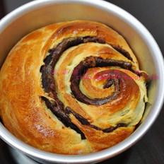 葡萄干豆沙面包卷  的做法