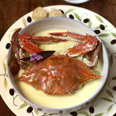 螃蟹炖蛋的做法