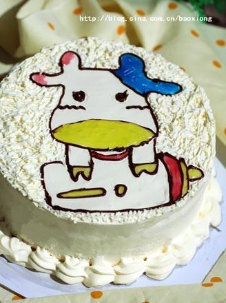 小牛生日蛋糕的做法_家常小牛生日蛋糕的做法【图】