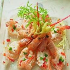 酒酿蒸虾的做法