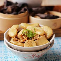 菱角烧豆腐的做法