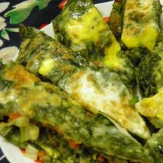 海菜蛋饼的做法