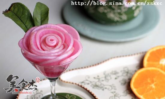 嫣紫玫瑰萝卜花的做法