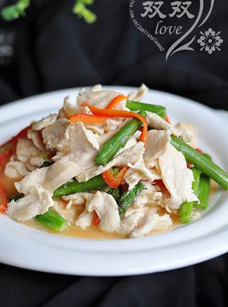 芦笋炒鸡片的做法