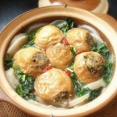 砂锅瓤面筋 的做法