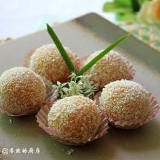 南瓜糯米糍的做法