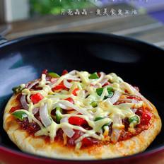 脆底香肠披萨的做法