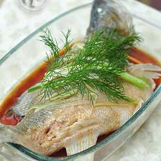 茴香蒸鲈鱼