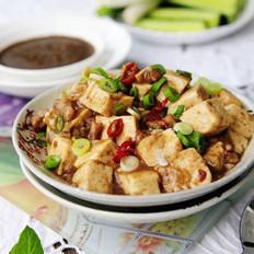 肉末虾酱咕嘟豆腐的做法
